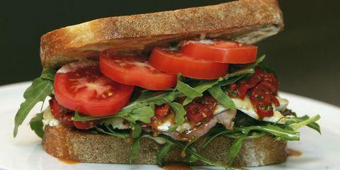 Food, Finger food, Produce, Ingredient, Vegetable, Baked goods, Cuisine, Brown bread, Sandwich, Vegan nutrition,