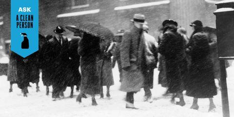Winter, Standing, Headgear, Overcoat, Snow, Fur, Monochrome, Freezing, Precipitation, Boot,