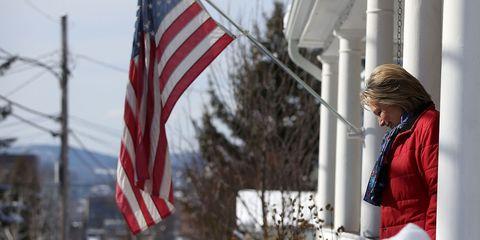 Daytime, Winter, Flag, Flag of the united states, White, Pole, Carmine, Jacket, World, Flag Day (USA),