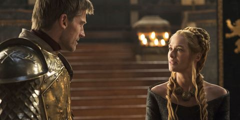 Jaime Lannister and Cersei Lannister on Game of Thrones