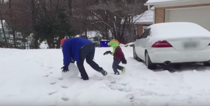 YouTube Video Entitled 'Dad Throws Giant Snowball at Kid' Delivers on Its Promise