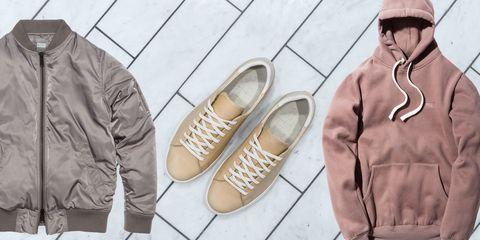 Footwear, Brown, Shoe, White, Tan, Fashion, Beige, Natural material, Fashion design, Baseball cap,