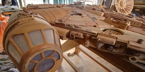 This Beautiful Millennium Falcon Was Made With Over 3,000 Pieces of Wood
