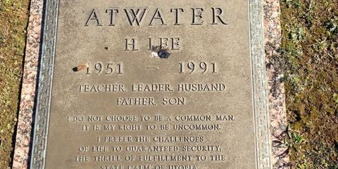 Commemorative plaque, Memorial, Groundcover, Cemetery, Concrete, Number, Rectangle, Grave, Headstone, Nonbuilding structure,