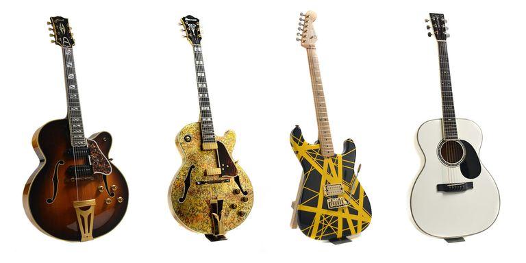 L R Tony Matola Gibson George Benson Ibenez Eddie Van Halen Charvel Eric Clapton Martin