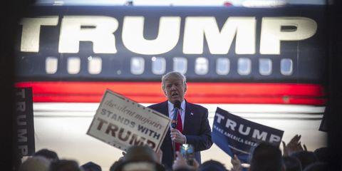 Blazer, Tie, White-collar worker, Spokesperson, Job, Speech, Banner, Convention,
