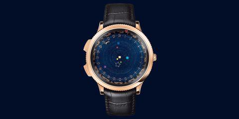 Product, Watch, Analog watch, Watch accessory, Glass, Gadget, Font, Azure, Black, Wrist,