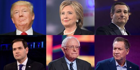 Remaining six presidential candidates