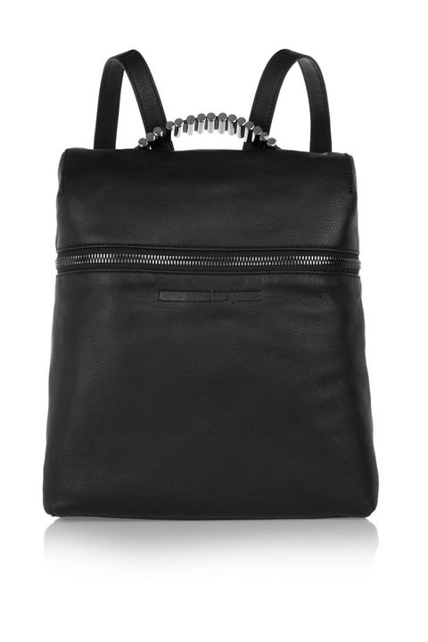 "<p>When your mom makes a Fortune 500 CEO look like a slacker, it's a safe bet that she's in need of a good bag to take her life with her. This McQ Alexander McQueen backpack is a perfect gift for the stylish moms who won't stay put. </p><p><em>Embellished Textured-Leather Backpack ($770) by McQ Alexander McQueen, <a href=""https://www.net-a-porter.com/us/en/product/639941/mcq_alexander_mcqueen/embellished-textured-leather-backpack"" target=""_blank"">net-a-porter.com</a></em></p>"