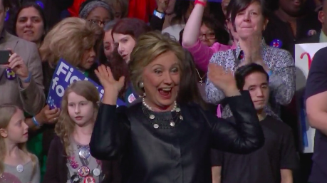 Exceptional Hillary Clinton Raises The Roof