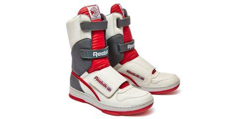 Footwear, Red, Sportswear, White, Athletic shoe, Logo, Carmine, Grey, Sneakers, Walking shoe,