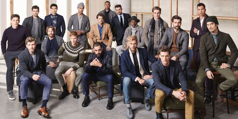 Clothing, Face, Footwear, Leg, Trousers, Social group, Coat, Jeans, Sitting, Jacket,