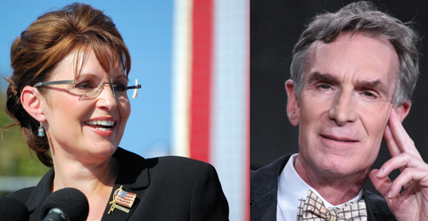 Sarah Palin Does Not Believe Bill Nye Is a Scientist