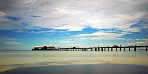 Sky, Cloud, Horizon, Reflection, Fluid, Dusk, Liquid, Evening, Pier, Morning,