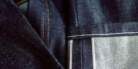 Blue, Denim, Textile, Pattern, Light, Electric blue, Black, Close-up, Space, Material property,