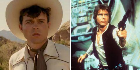 Alden Ehrenreich, Harrison Ford, Han Solo