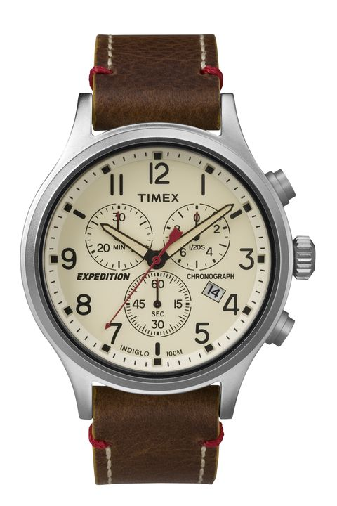 "<p>A great watch isn't just about telling time; it's about looking good while doing it. The Timex Expedition Scout Chronograph is a stylish, classic timepiece that will look every bit as good at the office as it will while relaxing on the weekend. </p><p><em>Expedition Scout Chronograph ($72) by Timex, <a href=""http://bit.ly/1Tz0S7u"" target=""_blank"">timex.com</a></em><br></p>"