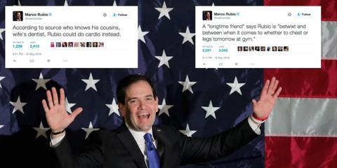 Rubio tweetstorm