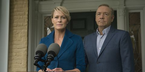Claire Underwood and Frank Underwood on House of Cards