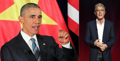Anthony Bourdain and President Obama Had a $6 Dinner (and Beers) in Vietnam