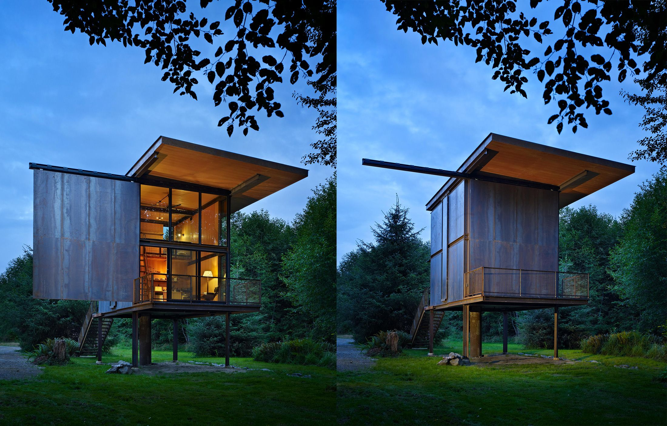 This Steel Cabin Could Survive a Zombie Apocalypse on minecraft hut design, defensive house design, coach house design, zombie apocalypse house, hurricane proof house design, guard house design, zombie protection house, earthquake resistant building design, fortified house design, oban & 2 by agushi workroom design, native house design, underground concrete house design, minimal house design, modern bunker design, earthquake proof house design, home design, zombie cakes design, best underground bunker design,