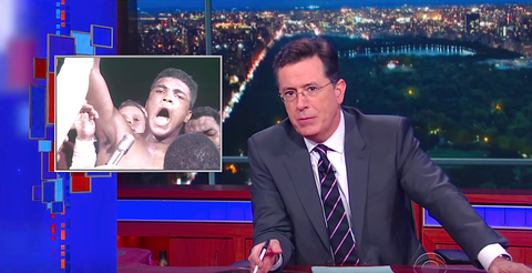 Stephen Colbert's Tribute to Muhammad Ali Was Like Nothing He's Ever Done