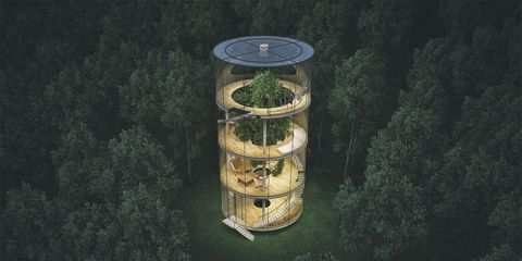 This Swanky Glass Tower is the Coolest Tree House You'll Ever See