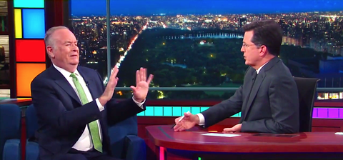 Bill O'Reilly and Stephen Colbert's Debate About Assault Weapons Was Brilliant