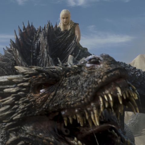 wait are there any actual dragons on game of thrones
