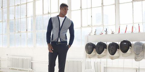 Dress shirt, Collar, Sleeve, Trousers, Shoulder, Shirt, Formal wear, Suit trousers, Pocket, Tie,