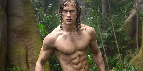 Human, Hairstyle, Skin, Shoulder, Chest, Barechested, Trunk, People in nature, Muscle, Facial hair,