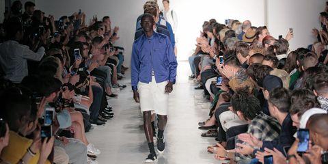Clothing, Leg, Fashion show, Joint, Outerwear, Runway, Style, Shorts, Fashion model, Fashion,