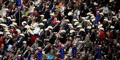 Crowd, People, Audience, Fan, Headgear, Stadium, Public event, Flag, Arena, Cheering,