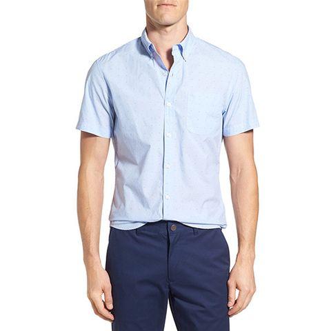Bonobos Slim Fit Dot Print Short Sleeve Sport Shirt