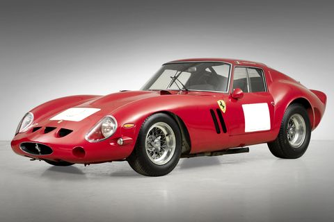 "<p><strong>Sold for</strong>: $38.1 million in 2014</p><p>Talk about pedigree: This particular 250 GTO Berlinetta made a name for itself as a competitor and a winner, before ever falling into the loving hands of collectors. With under 40 ever produced, it's no wonder that the 250s top this list—and it holds the record for the most expensive car to ever be <a href=""https://www.bonhams.com/press_release/17205/"" target=""_blank"">sold at an auction</a>, in Monterey or otherwise.</p>"