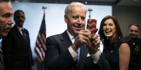 Joe Biden and Mariska Hargitay