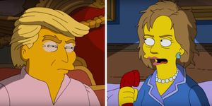 Donald Trump, Hillary Clinton, The Simpsons