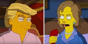 Donald Trump, Hillary Clinton, The Simpsons