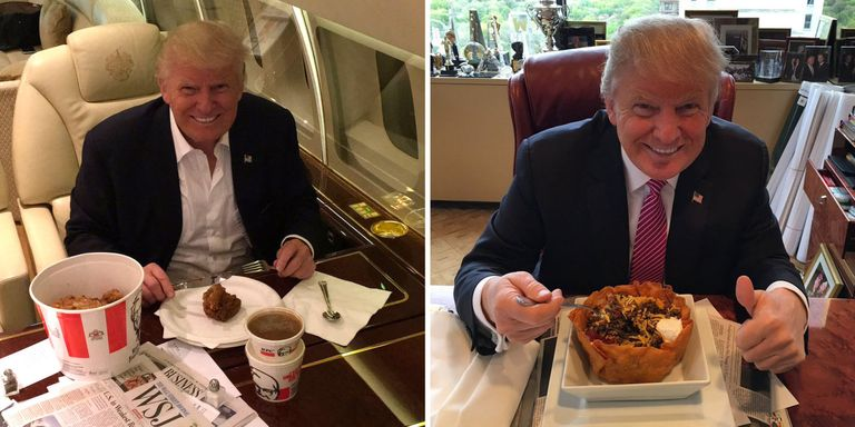 why does donald trump eat so much fast food. Black Bedroom Furniture Sets. Home Design Ideas