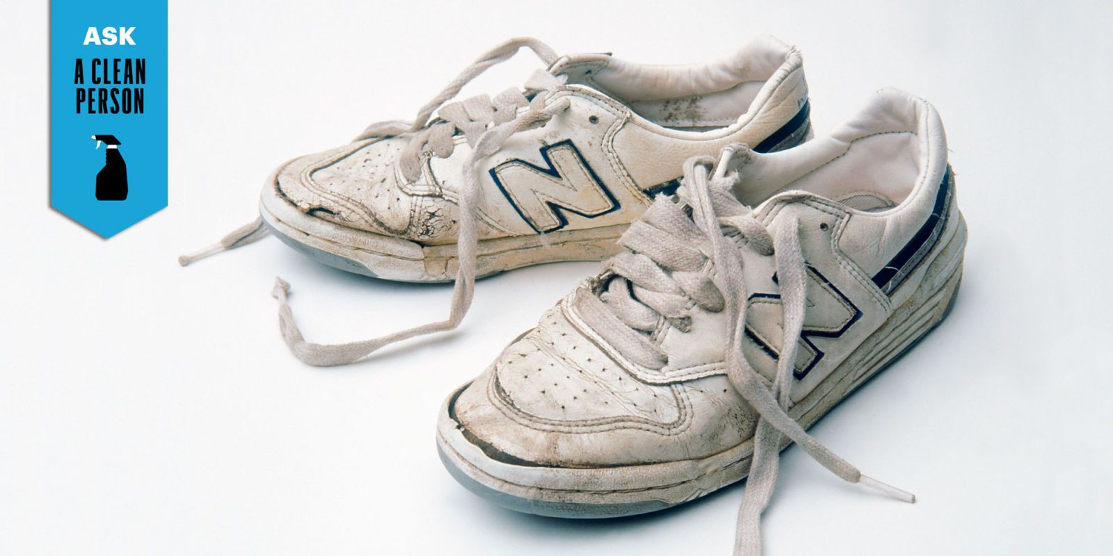 Can you put white leather sneakers in the washing machine