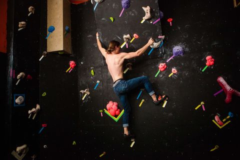 "<p>Once reserved for the great outdoors, rock climbing is quickly becoming an urban sport thanks to climbing gyms' steady rise in popularity. Brooklyn even has its own outdoor summer gym—<a href=""http://dumbo.thecliffsclimbing.com/"" target=""_blank"">DUMBO Boulders</a>—for easy sessions right out of the office. It's easy to see why: climbing offers an intense, full-body muscle workout, along with a ton of mental problem-solving.</p><p>Bouldering—a style of climbing where no ropes or harnesses are needed—sees climbers tackling short, technical routes. The simplicity of bouldering makes it a great option for beginner climbers. All you'll need is a pair of climbing shoes and a chalk bag. </p>"