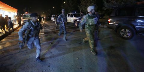 American University Kabul under attack