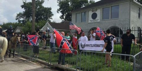 Community, Flag, Pole, Banner, Fence, Advertising, Protest, Village, Organization,