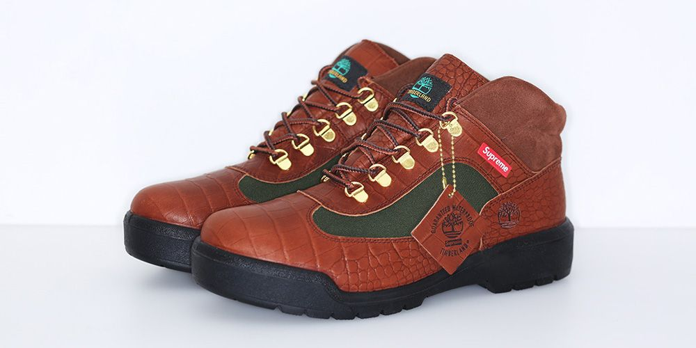 Supreme & Timberland Give Classic Field Boot a Colorful