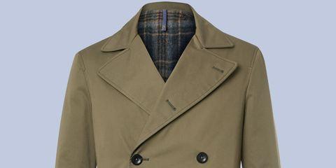 Clothing, Product, Brown, Collar, Dress shirt, Sleeve, Khaki, Coat, Textile, Outerwear,