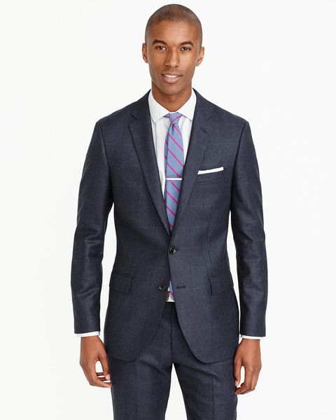 "<p>Another option is to go with a two-tone windowpane, like this Ludlow suit from J.Crew. The pattern is understated enough that it won't seem noisy and garish, but still stands out in a way that gives the suit some texture. It's a way to embrace plaid&nbsp&#x3B;without looking like you have a tee time later that day at St. Andrews. Wear it&nbsp&#x3B;to weddings,&nbsp&#x3B;job interviews, holiday parties&nbsp&#x3B;—&nbsp&#x3B;pretty much anywhere&nbsp&#x3B;requiring a some extra sprucing up.</p><p><em data-redactor-tag=""em"" data-verified=""redactor"">$650, </em><a href=""https://www.jcrew.com/mens_feature/TheSuitShop/PRDOVR~F4220/99104365172/F4220.jsp"" target=""_blank""><em data-redactor-tag=""em"" data-verified=""redactor"">jcrew.com</em></a></p>"