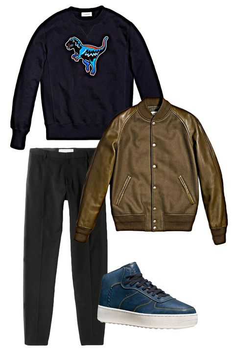 "<p>A perfect fall jacket means it goes well with everything. Pair it with a graphic sweatshirt, solid pants or denim and some high tops and you're good to go. Read on to see why it's your ideal coat for fall.</p><p><em data-redactor-tag=""em"">Civilian Varsity Jacket ($795) by Coach 1941, <a href=""http://www.coach.com/coach-mens-coats-civilian-varsity-jacket/86698.html?CID=D_B_ESQ_11521"" target=""_blank"">coach.com</a>, Rexy Sweatshirt ($250) by Coach 1941, <a rel=""noskim"" href=""http://www.coach.com/coach-mens-tops-rexy-sweatshirt-/54617.html?CID=D_B_ESQ_11528"" target=""_blank"">coach.com</a>, Contrast Stitch C210 High Top Sneaker ($275) by Coach 1941, <a rel=""noskim"" href=""http://www.coach.com/coach-mens-sneakers-contrast-stitch-c210-high-top-sneaker/G1562.html?CID=D_B_ESQ_11529"" target=""_blank"">coach.com</a> </em></p>"