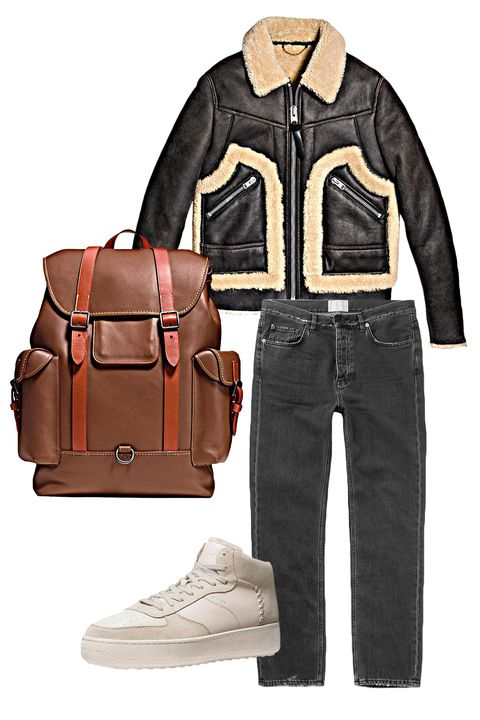 "<p>Versatility is key. Being your everyday carry bag of choice means the ability to pair it with almost any outfit, from shearling to short sleeves, patterns to perfectly worn denim. </p><p><em data-redactor-tag=""em"">Shearling Stinger Jacket ($2200) by Coach 1941, <a rel=""noskim"" href=""http://www.coach.com/coach-mens-leather-jackets-shearling-stinger-jacket/86621.html?CID=D_B_ESQ_11530"" target=""_blank"">coach.com</a>, C210 High Top Sneaker ($275) by Coach 1941, </em><em data-redactor-tag=""em""><a rel=""noskim"" href=""http://www.coach.com/coach-mens-sneakers-c210-high-top-sneaker/G1561.html?CID=D_B_ESQ_11531"" target=""_blank"">coach.com</a>, Gotham Backpack ($1100) by Coach 1941, <a href=""http://www.coach.com/coach-mens-leather-backpacks-gotham-backpack-in-glovetanned-leather/54520.html?CID=D_B_ESQ_11523"" target=""_blank"">coach.com</a></em></p>"