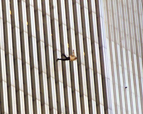 Man jumping off building 9 11