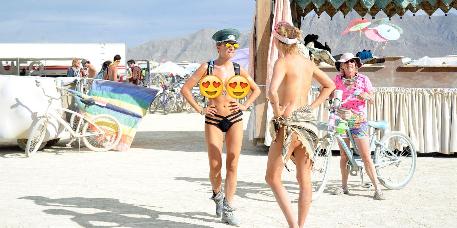 Burning man girl naked photos 630